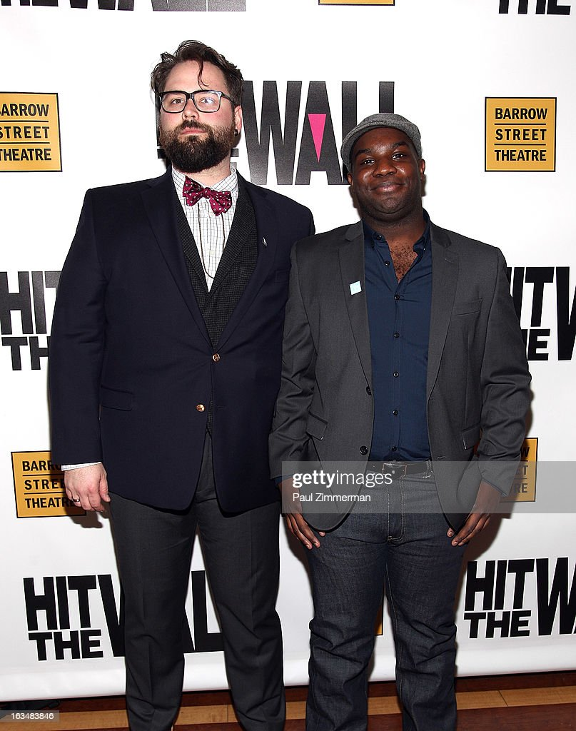 Director Eric Hoff and playwright Ike Holter attend the 'Hit The Wall' Off Broadway opening night at the Barrow Street Theatre on March 10, 2013 in New York City.