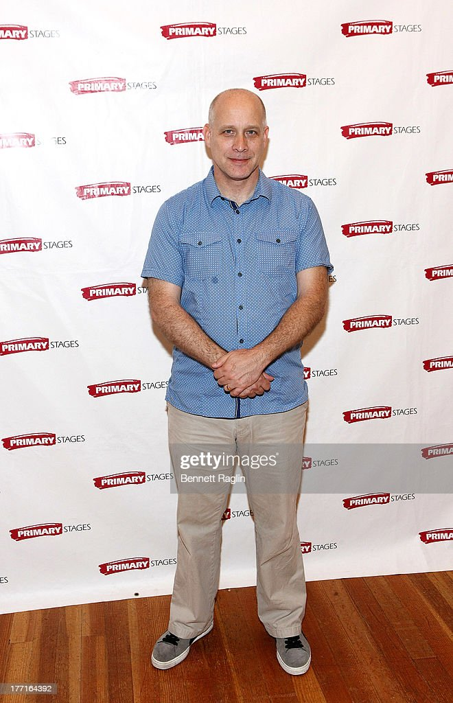 Director Eric Simonson attends the cast meet and greet for the upcoming Off-Broadway production 'Bronx Bombers' at Playwrights Horizons Rehearsal Studios on August 21, 2013 in New York City.