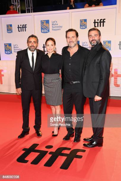 Director Eric Toledano actress Suzanne Clement actor Gilles Lellouche and codirector Olivier Nakache attend the 'C'est la vie' premiere during the...