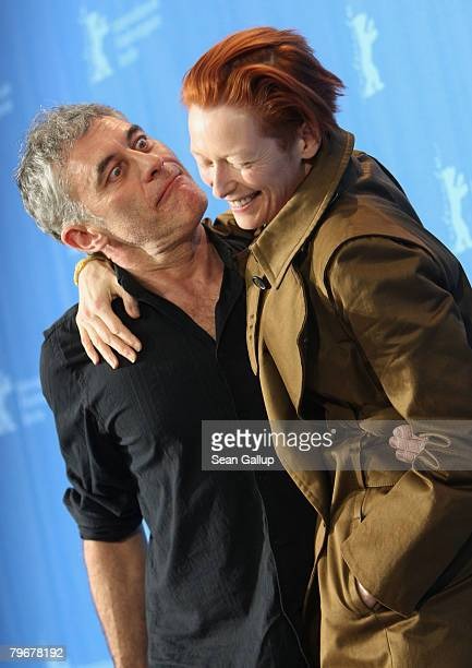 Director Erick Zonca and actress Tilda Swinton attend the 'Julia' photocall during day three of the 58th Berlinale International Film Festival held...