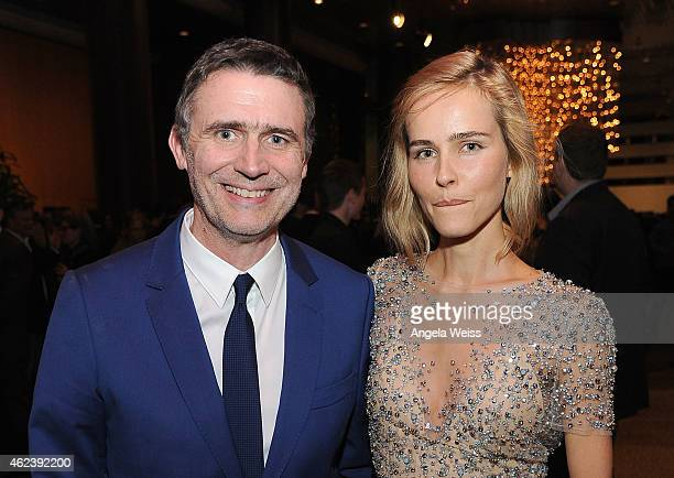 Director Erik Van Looy and actress Isabel Lucas attend the screening after party of Open Road Films' 'The Loft' at Directors Guild Of America on...