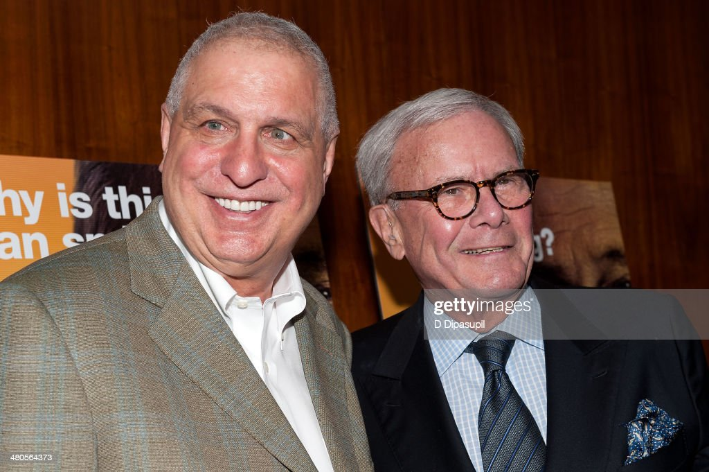Director <a gi-track='captionPersonalityLinkClicked' href=/galleries/search?phrase=Errol+Morris&family=editorial&specificpeople=3078362 ng-click='$event.stopPropagation()'>Errol Morris</a> (L) and <a gi-track='captionPersonalityLinkClicked' href=/galleries/search?phrase=Tom+Brokaw&family=editorial&specificpeople=203263 ng-click='$event.stopPropagation()'>Tom Brokaw</a> attend 'The Unknown Known' screening at the Museum Of Arts And Design on March 25, 2014 in New York City.