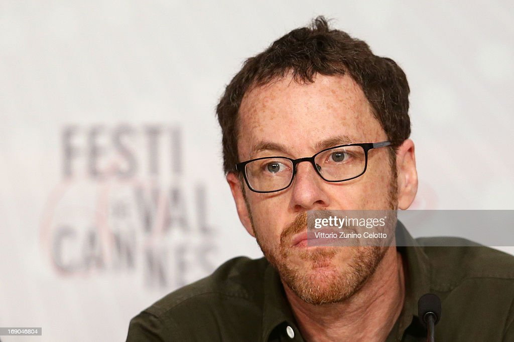 Director <a gi-track='captionPersonalityLinkClicked' href=/galleries/search?phrase=Ethan+Coen&family=editorial&specificpeople=1130888 ng-click='$event.stopPropagation()'>Ethan Coen</a> attends the 'Inside Llewyn Davis' Press Conference during The 66th Annual Cannes Film Festival at Palais des Festivals on May 19, 2013 in Cannes, France.