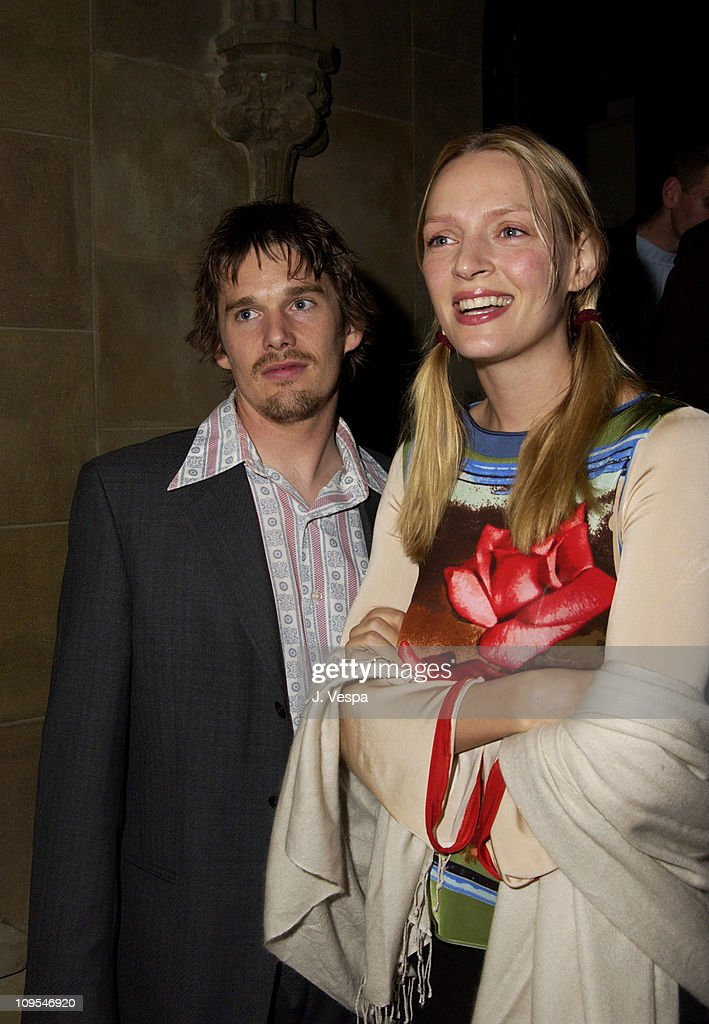Director Ethan Hawke and Uma Thurman during Details Magazine hosts 'Chelsea Walls' Premiere and After Party Los Angeles at Laemmle Sunset and Chateau...