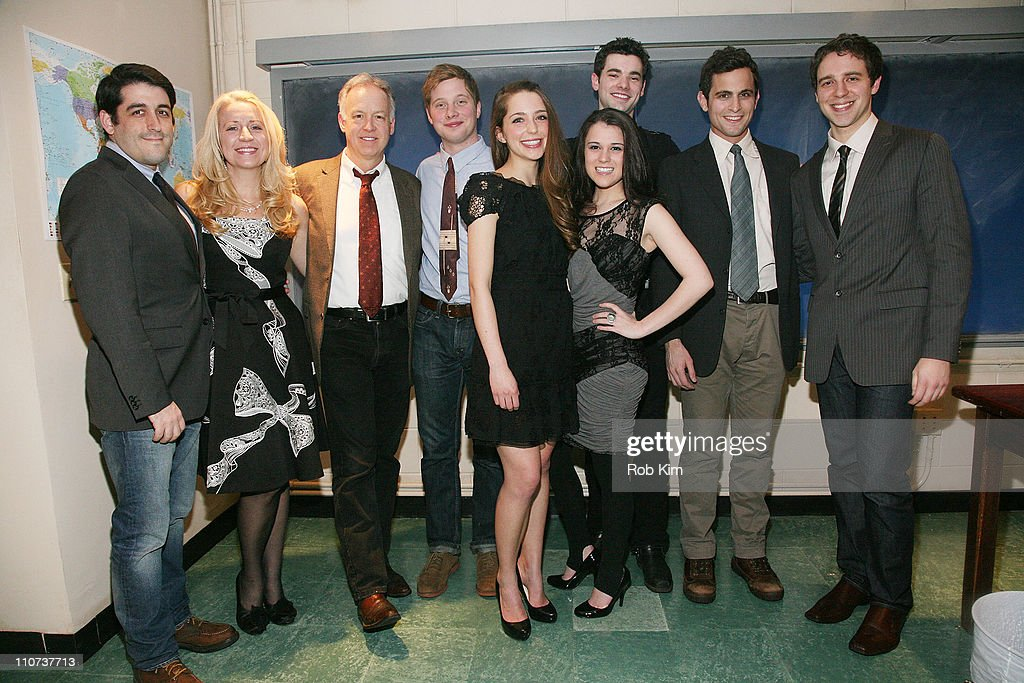Director Evan Cabnet, Kristie Dale Sanders, Reed Birney, Josh Caras, Jessica Rothenberg, Alexandra Socha, Jake O'Connor, Matt Dellapina and playwright David West Read attend the opening night of 'The Dream of the Burning Boy' at Roundabout Theatre Company Black Box Theatre on March 23, 2011 in New York City.