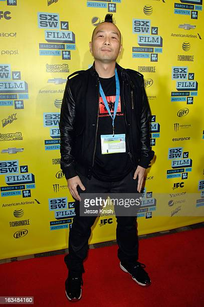 Director Evan Leong arrives at the screening of 'Linsanity' during the 2013 SXSW Music Film Interactive Festival at Vimeo on March 10 2013 in Austin...