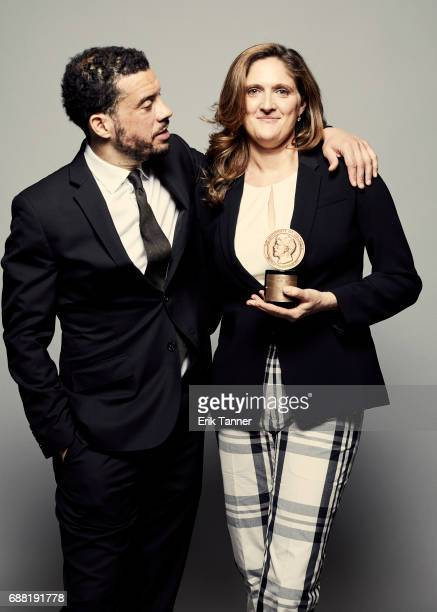 Director Ezra Edelman and film producer Caroline Waterlow are photographed at the 76th Annual Peabody Awards at Cipriani Wall Street on May 20 2017...