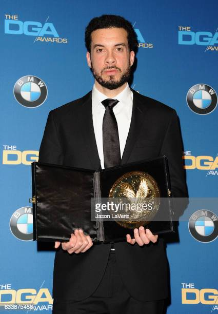 Director Ezra Edelman poses in the press room at the 69th annual Directors Guild of America Awards at The Beverly Hilton Hotel on February 4 2017 in...
