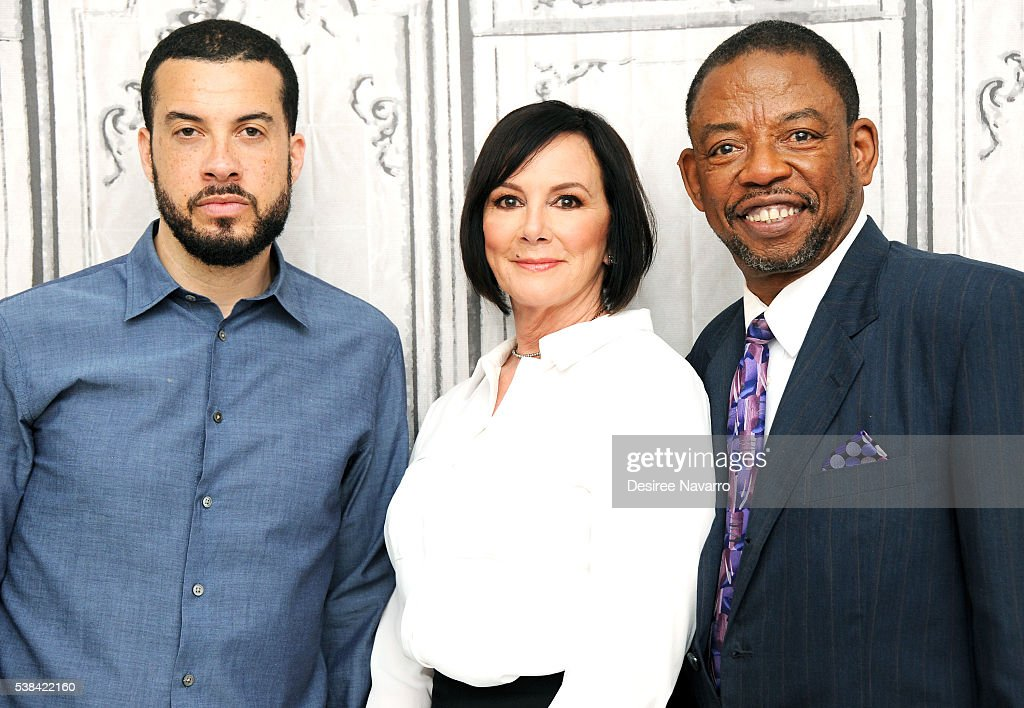 Director Ezra Edelman prosecutor Marcia Clark and attorney Carl Douglas discuss ESPN Films documentary 'OJ Made in America' during AOL Build Speaker...