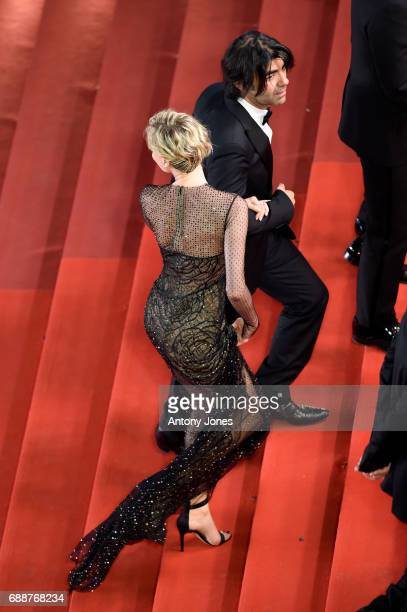 Director Fatih Akin and Diane Kruger attend the 'In The Fade ' screening during the 70th annual Cannes Film Festival at Palais des Festivals on May...