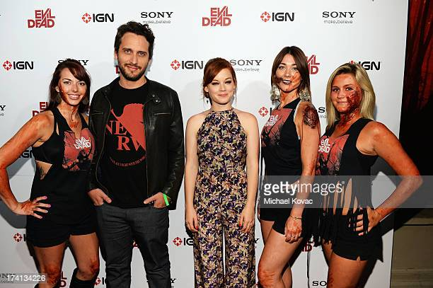 Director Fede Alvarez actress Jane Levy and guests attend Sony Pictures Home Entertainment and Evil Dead Bluray Fan Party At Comic Con 2013 at The...