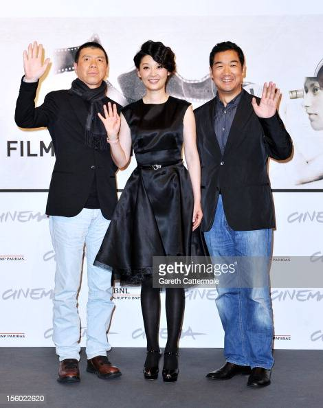 Director Feng Xiaogang and actors Xu Fan and Zhang Guo Li attend the 'Back To 1942' Photocall during the 7th Rome Film Festival at the Auditorium...