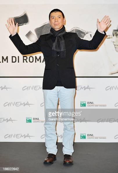 Director Feng Xiaogang attends the 'Back To 1942' Photocall during the 7th Rome Film Festival at the Auditorium Parco Della Musica on November 11...