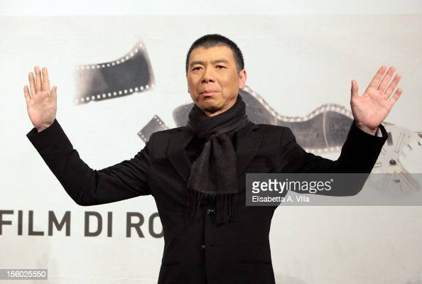 Director Feng Xiaogang attends the 'Back To 1942' Photocall during the 7th Rome Film Festival at Auditorium Parco Della Musica on November 11 2012 in...