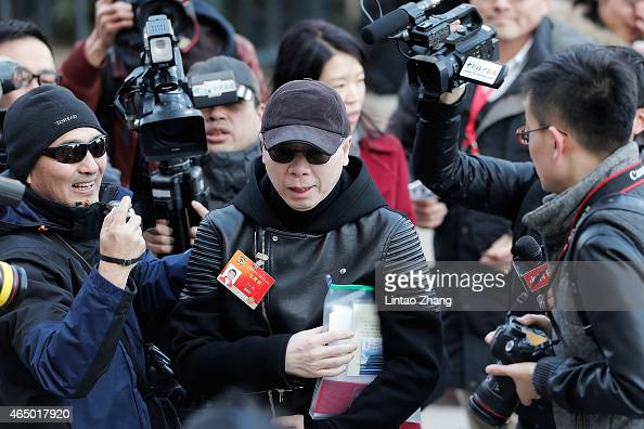 Director Feng Xiaogang attends the opening session of the Chinese People's Political Consultative Conference held at the Great Hall on March 3 2015...