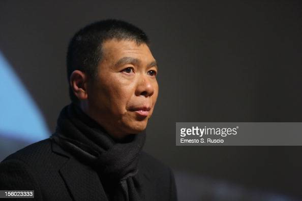 Director Feng Xiaogang speaks at the 'Back To 1942' Press Conference during the 7th Rome Film Festival at the Auditorium Parco Della Musica on...