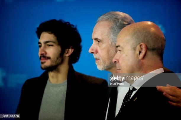 Director Fernando Trueba and Actors Chino Darin and Antonio Resines attends the la reina de Espana photocall during the 67th Berlinale International...