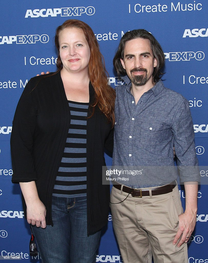 Director, Film & TV Jennifer Harmon (L) and Bear McCreary attend the 2016 ASCAP 'I Create Music' EXPO on April 28, 2016 in Los Angeles, California.