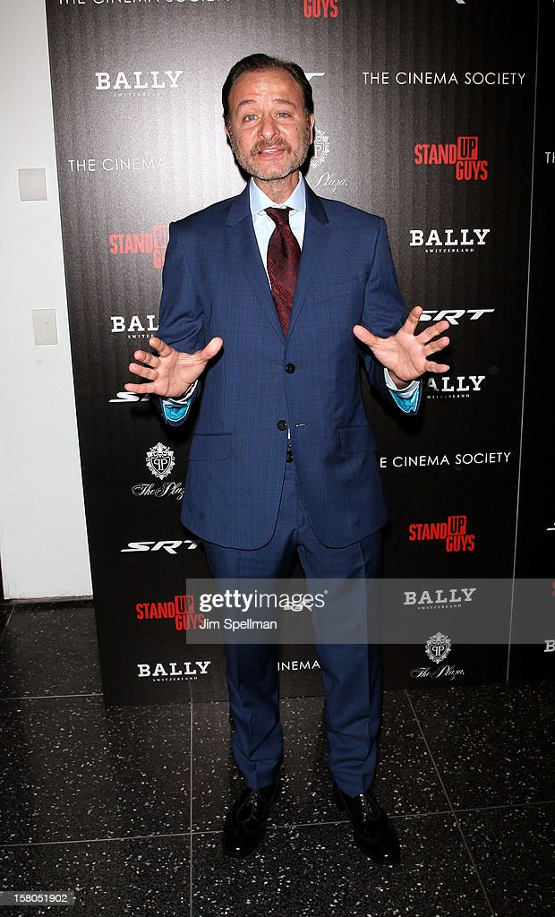 Director Fisher Stevens attends The Cinema Society With Chrysler & Bally premiere of 'Stand Up Guys' at Museum of Modern Art on December 9, 2012 in New York City.