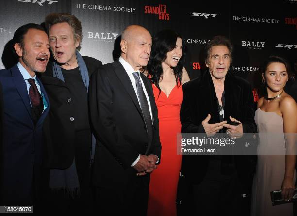 Director Fisher Stevens with actors Christopher Walken Alan Arkin Julianna Margulies Al Pacino and Addison Timlin attend the premiere of 'Stand Up...