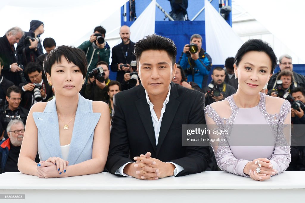 Director Flora Lau, actor Kun Chen and actress <a gi-track='captionPersonalityLinkClicked' href=/galleries/search?phrase=Carina+Lau&family=editorial&specificpeople=663580 ng-click='$event.stopPropagation()'>Carina Lau</a> attends 'Bends' Photocall during the 66th Annual Cannes Film Festival at Palais des Festivals on May 18, 2013 in Cannes, France.