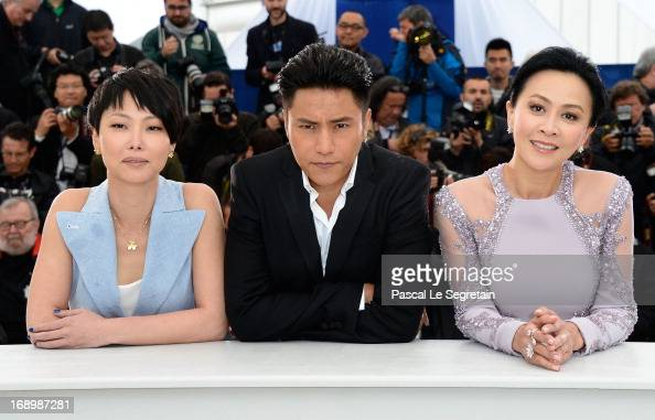Director Flora Lau actor Kun Chen and actress Carina Lau attends 'Bends' Photocall during the 66th Annual Cannes Film Festival at Palais des...