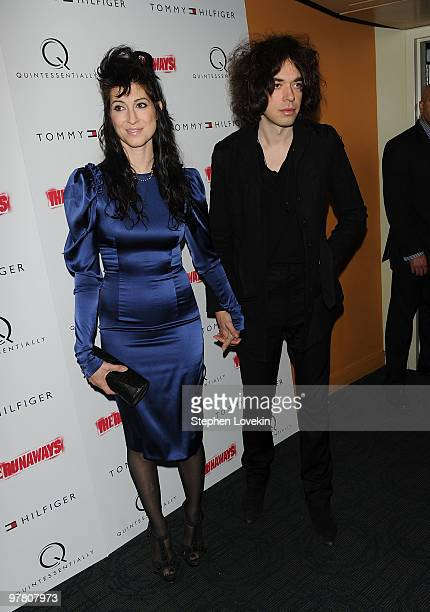Director Floria Sigismondi and musician Lillian Berlin attends the premiere of 'The Runaways' at Landmark Sunshine Cinema on March 17 2010 in New...