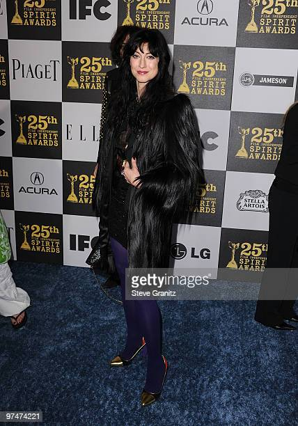 Director Floria Sigismondi arrives at the 25th Film Independent Spirit Awards held at Nokia Theatre LA Live on March 5 2010 in Los Angeles California