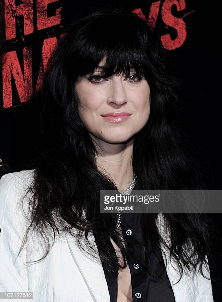 Director Floria Sigismondi arrives at the Los Angeles Premiere 'The Runaways' at the ArcLight Cinemas Cinerama Dome on March 11 2010 in Hollywood...