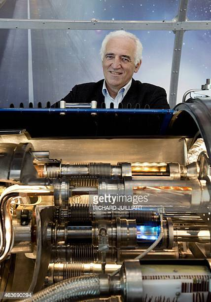ROUX CERN director for accelerators and technology Frederick Bordry poses on February 10 2015 at the European Organisation for Nuclear Research in...