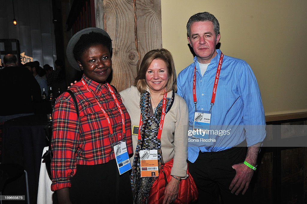 Director Frances Bodomo, Janice Nelson and director Tony Donoghue attend the Day One Party during the 2013 Sundance Film Festival at Legacy Lodge on January 17, 2013 in Park City, Utah.