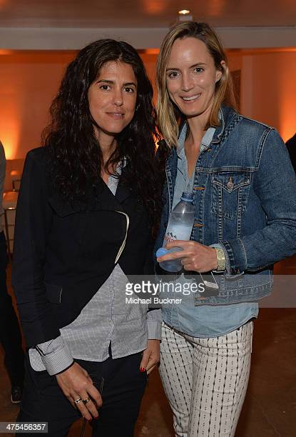 Director Francesca Gregorini and Morgan Marling attend The Art of Elysium Hosts Preview for Pieces of Heaven Presented by MercedesBenz at Siren...