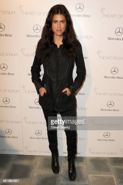 Director Francesca Gregorini arrives at The Art of Elysium's 7th Annual HEAVEN Gala presented by MercedesBenz at Skirball Cultural Center on January...