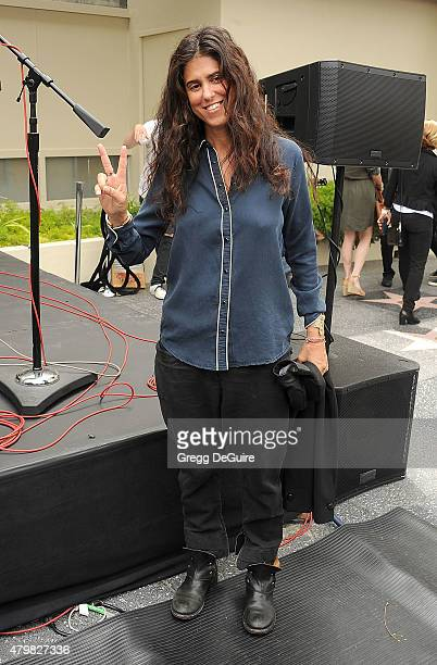 Director Francesca Gregorini attend Ringo Starr's birthday fan gathering at Capitol Records on July 7 2015 in Hollywood California