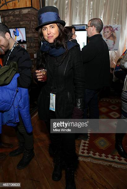 Director Francesca Gregorini attends the Verge Sundance Party at Village At The Lift on January 18 2014 in Park City Utah