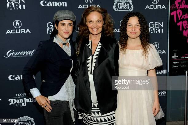 Director Francesca Gregorini designer Diane von Furstenberg and director Tatiana von Furstenberg attend the Gen Art Film Festival screening of...