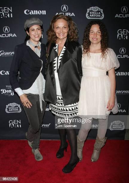 Director Francesca Gregorini Designer Diane von Furstenberg and Director Tatiana von Furstenberg attend the 15th annual Gen Art Film Festival...