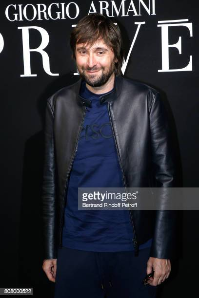 Director Francesco Vezzoli attends the Giorgio Armani Prive Haute Couture Fall/Winter 20172018 show as part of Haute Couture Paris Fashion Week on...