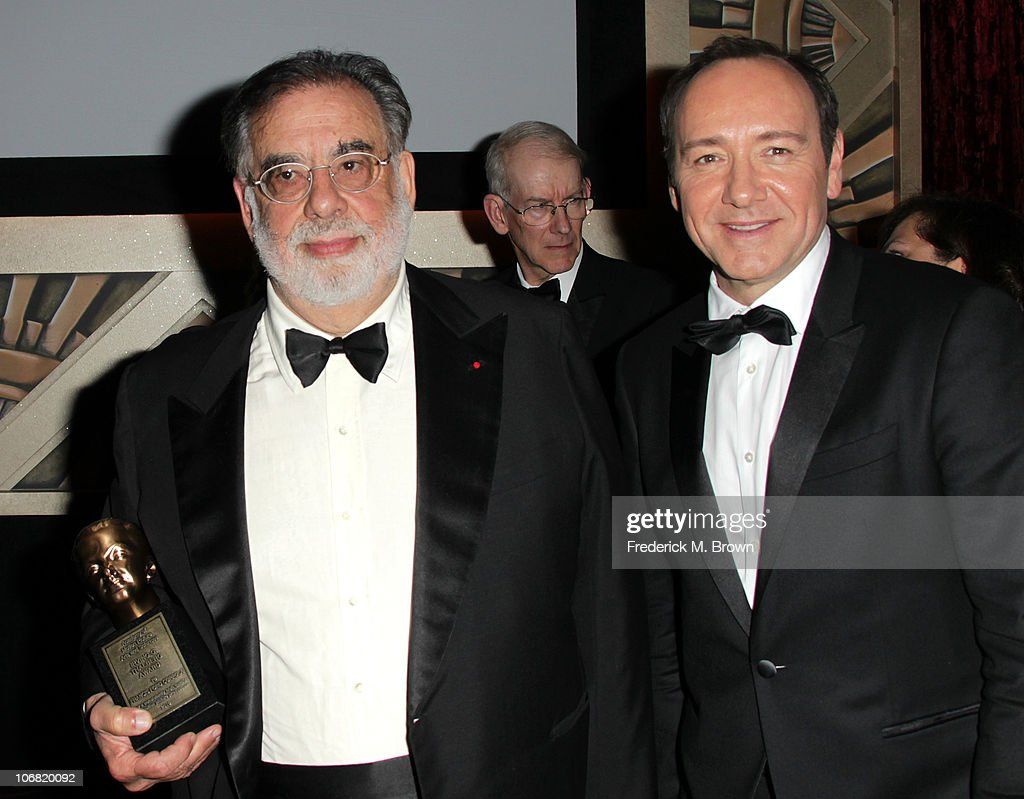 Director <a gi-track='captionPersonalityLinkClicked' href=/galleries/search?phrase=Francis+Ford+Coppola&family=editorial&specificpeople=204241 ng-click='$event.stopPropagation()'>Francis Ford Coppola</a> and actor <a gi-track='captionPersonalityLinkClicked' href=/galleries/search?phrase=Kevin+Spacey&family=editorial&specificpeople=202091 ng-click='$event.stopPropagation()'>Kevin Spacey</a> attend the Academy of Motion Picture Arts and Sciences' second annual Governors Awards at the Grand Ballroom, Hollywood and Highland on November 13, 2010 in Los Angeles, California.