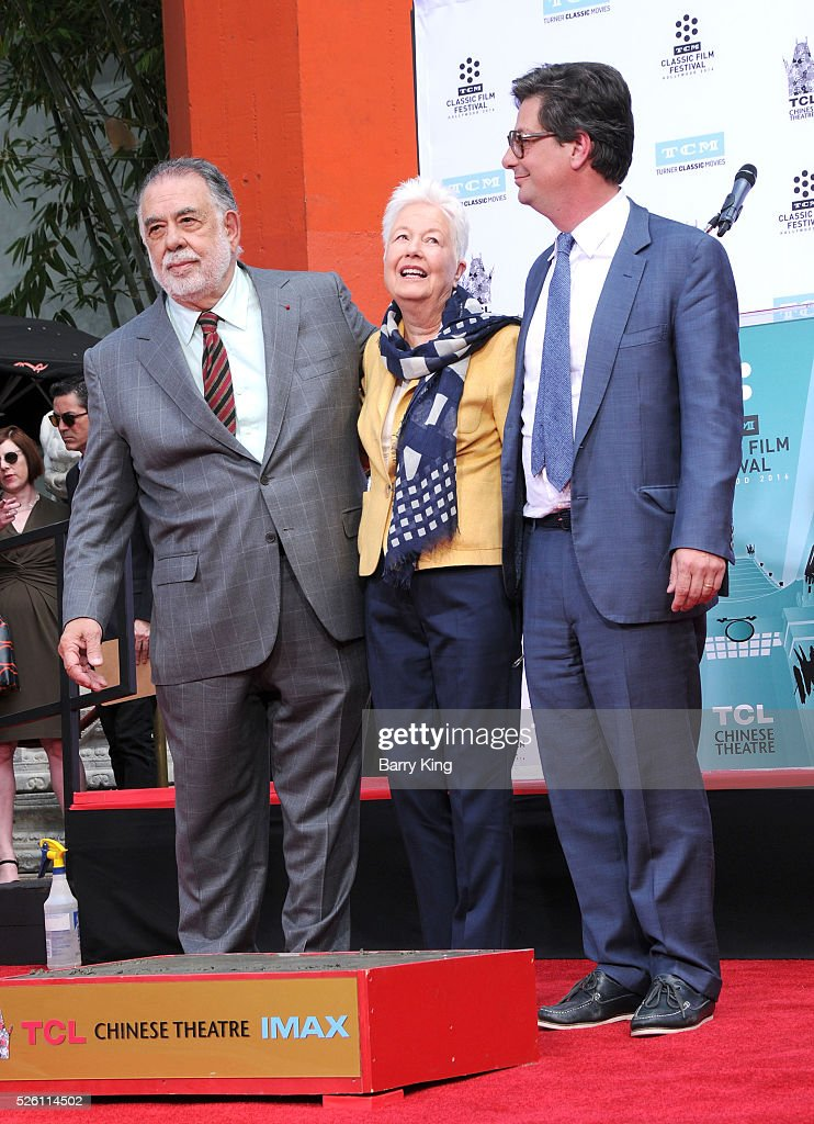 Director <a gi-track='captionPersonalityLinkClicked' href=/galleries/search?phrase=Francis+Ford+Coppola&family=editorial&specificpeople=204241 ng-click='$event.stopPropagation()'>Francis Ford Coppola</a> and directors Eleanor Coppola and <a gi-track='captionPersonalityLinkClicked' href=/galleries/search?phrase=Roman+Coppola&family=editorial&specificpeople=615097 ng-click='$event.stopPropagation()'>Roman Coppola</a> attend <a gi-track='captionPersonalityLinkClicked' href=/galleries/search?phrase=Francis+Ford+Coppola&family=editorial&specificpeople=204241 ng-click='$event.stopPropagation()'>Francis Ford Coppola</a> Hand and Footprint Ceremony at TCL Chinese Theatre IMAX on April 29, 2016 in Hollywood, California.