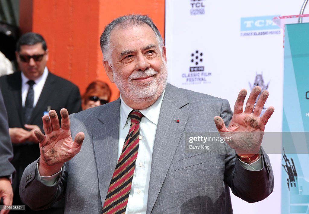 Director <a gi-track='captionPersonalityLinkClicked' href=/galleries/search?phrase=Francis+Ford+Coppola&family=editorial&specificpeople=204241 ng-click='$event.stopPropagation()'>Francis Ford Coppola</a> attends <a gi-track='captionPersonalityLinkClicked' href=/galleries/search?phrase=Francis+Ford+Coppola&family=editorial&specificpeople=204241 ng-click='$event.stopPropagation()'>Francis Ford Coppola</a> Hand and Footprint Ceremony at TCL Chinese Theatre IMAX on April 29, 2016 in Hollywood, California.