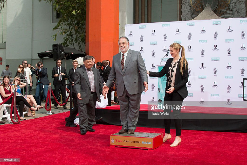 Director <a gi-track='captionPersonalityLinkClicked' href=/galleries/search?phrase=Francis+Ford+Coppola&family=editorial&specificpeople=204241 ng-click='$event.stopPropagation()'>Francis Ford Coppola</a> (center) attends his Hand and Footprint Ceremony at TCL Chinese Theatre IMAX on April 29, 2016 in Hollywood, California.