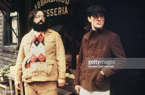 Director Francis Ford Coppola guides Robert De Niro in a scene in The Godfather Part II in 1974 in New York New York