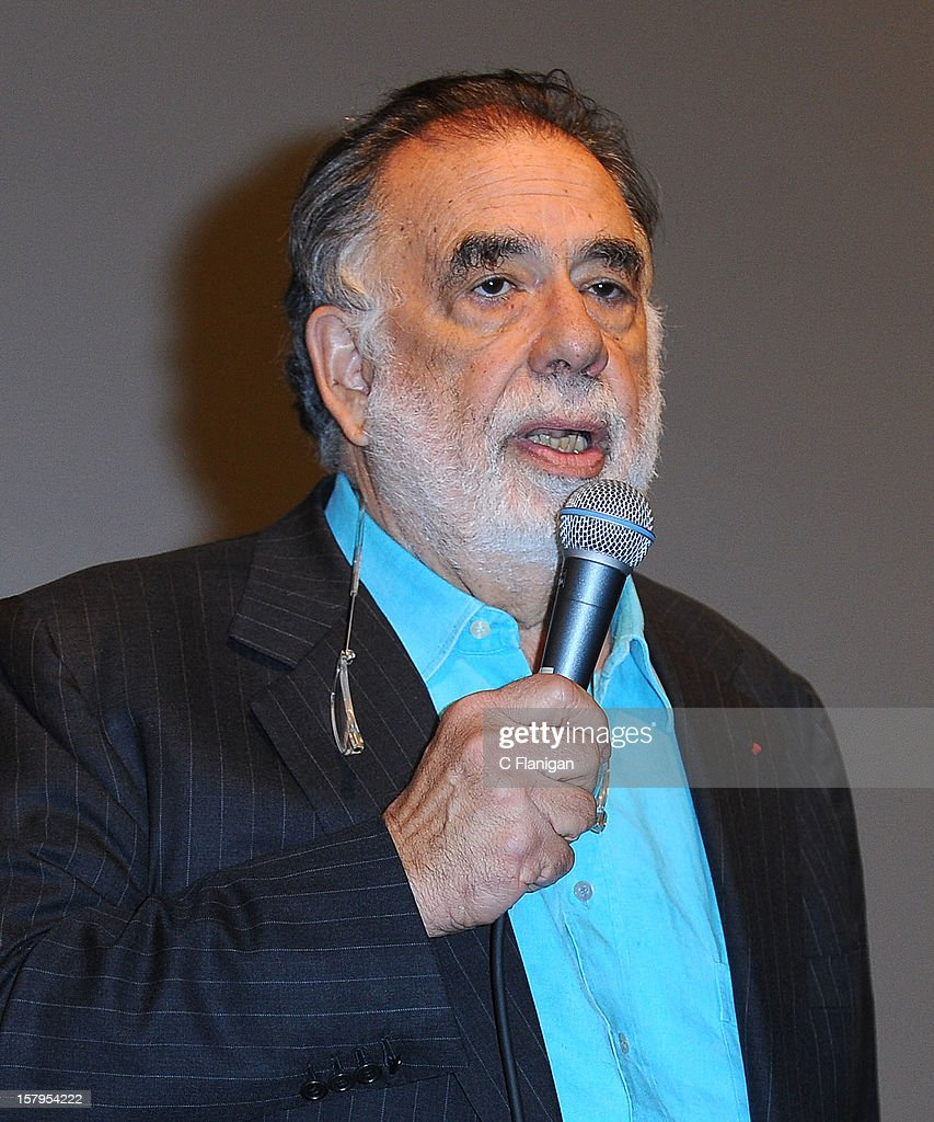 Director <a gi-track='captionPersonalityLinkClicked' href=/galleries/search?phrase=Francis+Ford+Coppola&family=editorial&specificpeople=204241 ng-click='$event.stopPropagation()'>Francis Ford Coppola</a> speaks during the 'On the Road' Vanity Fair Screening presented by Hugo Boss at Skywalker Ranch on December 7, 2012 in San Francisco, California.