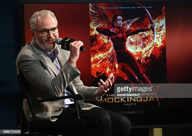 Director Francis Lawrence attends AOL BUILD Series Francis Lawrence 'The Hunger Games Mockingjay Part 2' at AOL Studios on November 20 2015 in New...