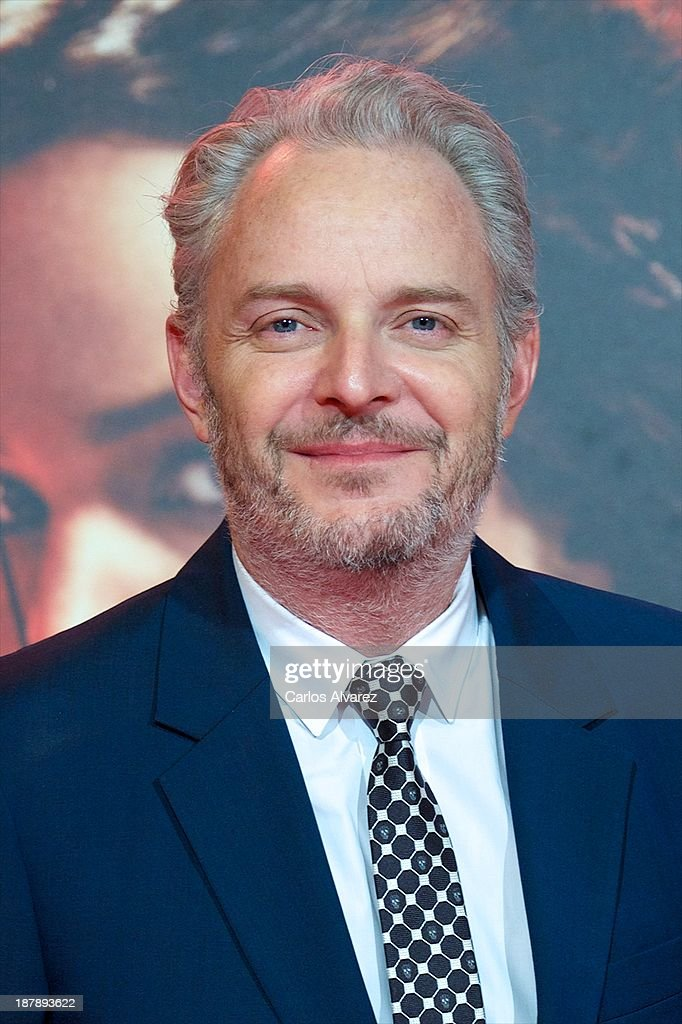 Director <a gi-track='captionPersonalityLinkClicked' href=/galleries/search?phrase=Francis+Lawrence&family=editorial&specificpeople=224820 ng-click='$event.stopPropagation()'>Francis Lawrence</a> attends the Spanish premiere of the film 'The Hunger Games - Catching Fire' (Los Juegos Del Hambre: En Llamas) at the Callao cinema on November 13, 2013 in Madrid, Spain.