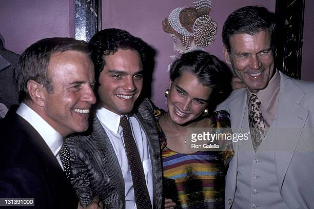 Director Franco Zeffirelli actor Martin Hewitt actress Brooke Shields and actor Don Murray attend the 'Endless Love' Premiere Party on July 16 1981...