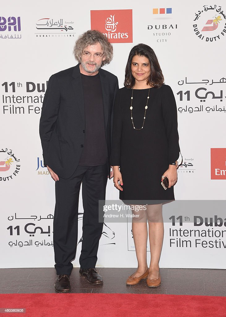 Director Francois Girard and Managing Director of DIFF Shivani Pandya attend the 'Boychoir' premiere during day three of the 11th Annual Dubai...