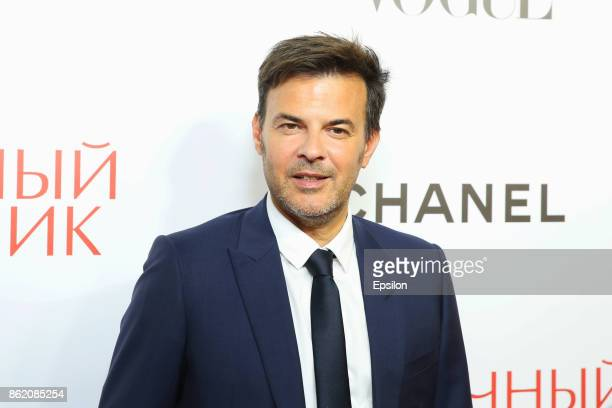 Director Francois Ozon attends a premiere of 'Amant Double' film at Barvikha Luxury Village concert hall on October 16 2017 in Moscow Russia