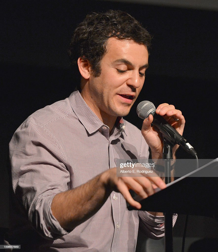 Director <a gi-track='captionPersonalityLinkClicked' href=/galleries/search?phrase=Fred+Savage&family=editorial&specificpeople=615410 ng-click='$event.stopPropagation()'>Fred Savage</a> attends a Film Independent live read at Bing Theatre At LACMA on January 17, 2013 in Los Angeles, California.